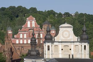 Lithuania, Vilnius, Old Town, St. Michael's Church and St. Bernardine's Church