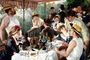 Luncheon of the Boating Party', 1881. Oil on canvas. Pierre-Auguste Renoir (1841-1919)