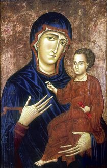 Madonna and Child. Berlinghiero (active by 1228, d1236) Italian artist. Tempera on wood