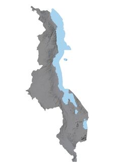 Malawi, Relief Map
