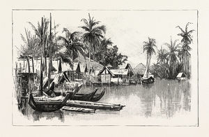 Malay Native Village On The East Coast Of Sumatra