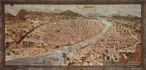 Map of Florence known as Della Catena Map of Florence, Attributed to Francesco di Lorenzo Rosselli