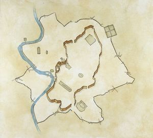 Map of the Servian wall, constructed around the city of Rome in the early 4th century BC