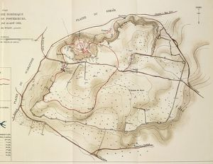 Map of Troy, acropolis of second city, drawing by Heinrich Schliemann, 1882