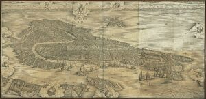 Map of Venice in 1500, by Jacopo de Barbari