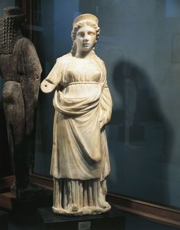 Marble statuette of Isis, from Saqqara