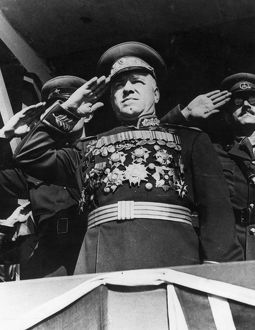 Marshal georgy zhukov, hero of the soviet union, 1945