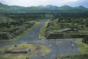 Mexico, Basin of Mexico, Mexico City, Teotihuacan (City of Gods), Pyramid of Moon