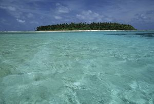 Micronesia, Yap Islands, Ulithi atoll, island, view from sea