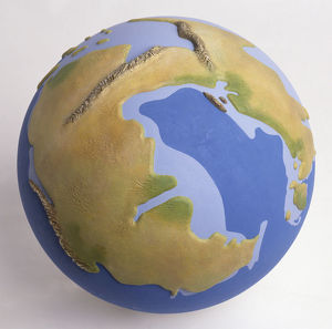 Model of the Earth during the Triassic period