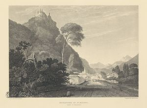 Moncenisio Pass with San Michele Monastery, from Illustrations of the Passes of the