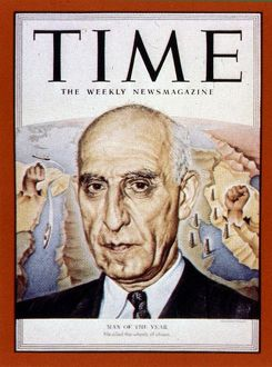 Mossadeq 1951 Man of Year, from Time 1952. Mohammad Mosaddegh (19 May 1882 - 5 March