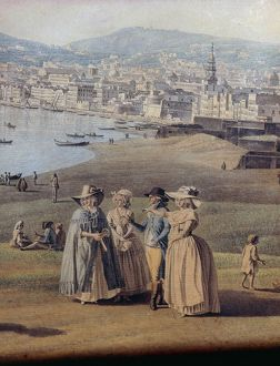 Naples from Magdalene Bridge, by Giovanni Battista Lusieri, 1791, Watercolor on paper
