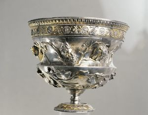 The Netherlands, Stevensweert, Silver cup found in the Meuse river