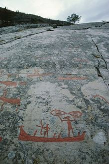 Norway, Nord Region, Finnmark County, Alta, Prehistoric rock engravings, Hunting