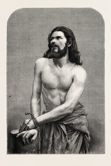 THE OBERAMMERGAU PASSION PLAY: JOSEPH MAIR (DER CHRISTUS), BAVARIA, BAYERN, GERMANY, 1870