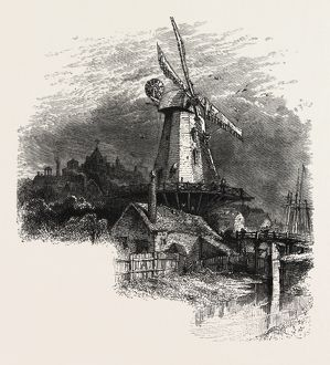 An old windmill at Rye, the south coast, UK, U