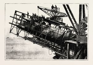 THE OPENING OF FORTH BRIDGE BY THE PRINCE OF WALES, BOTTOM MEMBER OF CANTILEVER IN