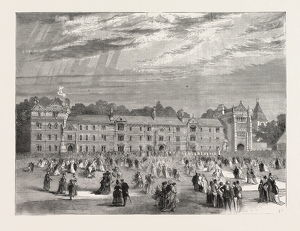 THE OPENING OF KEBLE COLLEGE, OXFORD UNIVERSITY, OXFORD, UK, 1870
