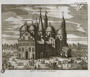 Padua, Church of St. Anthony, engraving, 1743