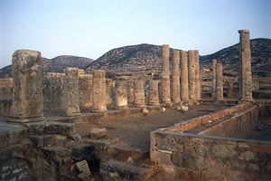 Palace of the Columns, remains of ancient Ptolemais