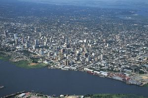 Paraguay, Aerial view of Asuncion