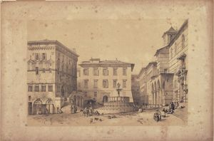 Perugia, November IV Piazza with Major Fountain, from Georg Belton Moore fund, London