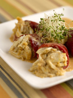 Piquillo peppers stuffed with dungeness crab