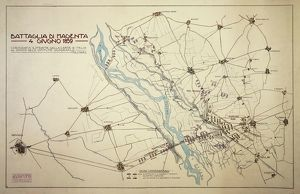 history/militaria/plan battle magenta june 4 1859 second war