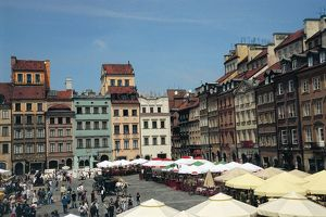 world heritage/building exterior/poland warsaw historic centre old town market