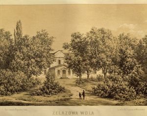 Poland, Zelazowa-Wola, Manor-house of Count Skarbek, birthplace of the composer Frederic Chopin