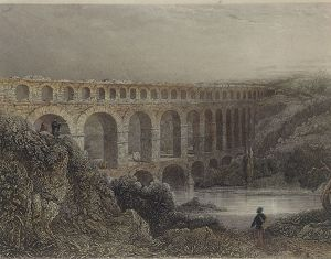 Pont-du-Gard, Roman bridge over Gardon River which forms part of aqueduct of same name