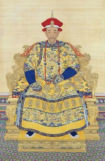 Portrait of the Kangxi Emperor in Court Dress, by anonymous court artists