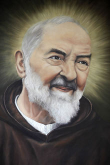Portrait of Padre Pio in Apulia