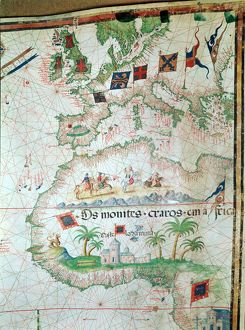history/portuguese map 1558 bastian lopez showing europe
