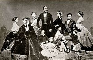 Prince Albert (Prince Consort) with Queen Victory and their Children