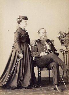 Princess Isabel and Dom Pedro II, Emperor of Brazil 1870 A.D