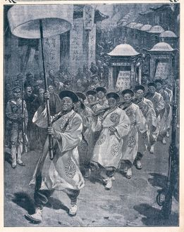 Procession of imperial ancestral tablets in Peking (Beijing), From Journal des Voyages