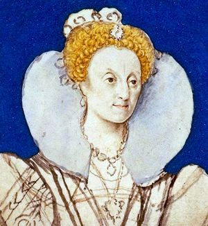 Queen Elizabeth I c.1590-1592. Preparatory sketch by Isaac Oliver