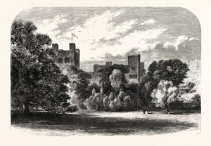 THE QUEEN'S VISIT TO NORTH WALES. PENRHYN CASTLE, THE SEAT OF COLONEL THE HON