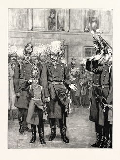 The Reception Of The Crown Prince Of Prussia Into The First Regiment Of Guards At Potsdam