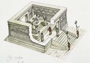 Reconstructed Ara Pacis Augustae, 1st century BC, Illustration