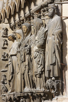 Reims cathedral west wing statues