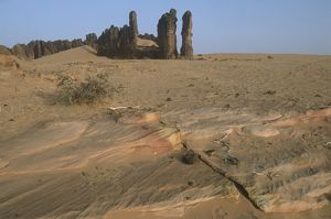 Republic of Chad, Ennedi Massif, surroundings of Guelta d'Archei