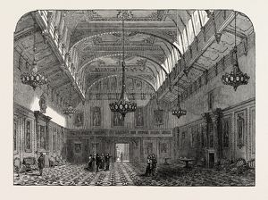 THE RETURN OF THE COURT TO WINDSOR CASTLE: WINDSOR CASTLE, THE WATERLOO CHAMBER, 1846