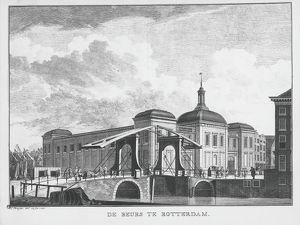 Rotterdam, the Stock Exchange, 1761, engraving