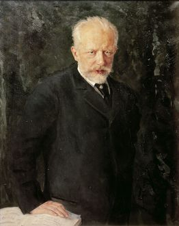 Russia, Portrait of Russian composer, Pyotr Ilyich Tchaikovsky