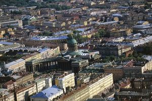 Russia, Saint Petersburg, Aerial view of Kazan Cathedral