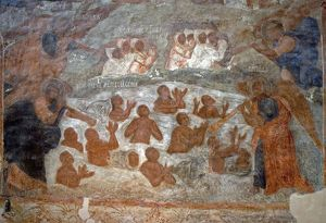 world heritage/horizontal/russia veliky novgorod fresco depicting universal
