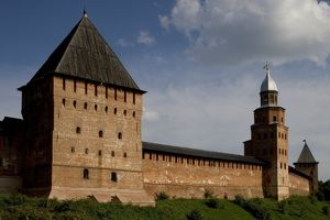 world heritage/building exterior/russia veliky novgorod intercession kukui towers